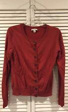 Banana Republic Women's Red Long Sleeve Casual Cardigan Sweater Size M Medium