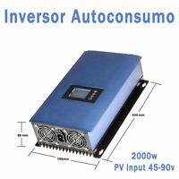 Inversor Auntoconsumo de vertido cero 2000w, entrada de 45v a 90v  inverter Grid