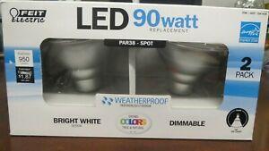 NIOB Feit Electric PAR38 LED Bright White, Dimmable, Weatherproof, 90 Watt 2PK