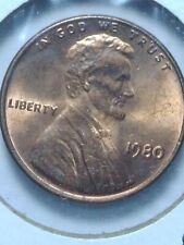 1980 Ddo Red Lincoln Cent Circulated Errors Us rare coins Railroad Rim