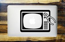 Old Retro TV Macbook Sticker / Macbook Decal / Cover / Skin with Pliers Funny