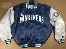 Starter Authentic Diamond CollectionSeattle Mariners Satin Baseball Jacket L