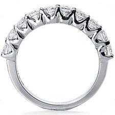 14k White Gold Band G-H Si 1 carat Round Diamond Anniversary Ring