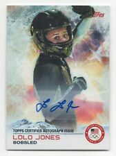 2014 Topps USA Olympic Team Autograph #48 Lolo Jones Bobsled