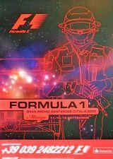 F1 MONZA GRAN PREMIO DI ITALIANO Barrichello 2009 originale poster 96cm x 66cm