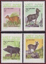 VIETNAM du NORD N°790/793** Animaux, 1973 North Vietnam 698-701 Wild Animals MNH