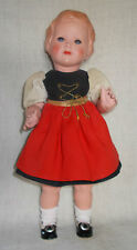 """Stunning 15"""" Celluloid Schoberl Becker Doll from the 1930's German Dressed"""