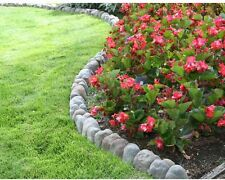10 Pack 12 In x 4 In Overlapping Edging Rock Outdoor Garden Stone Border Decor