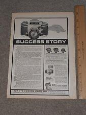 1965 Exakta Camera  Company Full page Ad  Bronxville New York Volkswagon Beetle