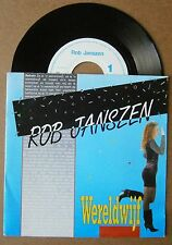 "7"" Rob Janszen - Wereldwijf / Jetje Free Records 1991 Nm Ps Pluche & Plastic"