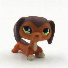 LPS #675 Littlest Pet Shop Hasbro Collection Toys Brown Savanah Dachshund Dog AA