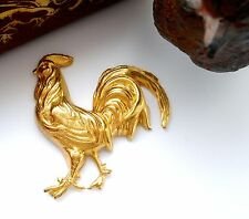 BRASS Large ROOSTER Stamping ~ Jewelry Ornament Finding (FB-6074)