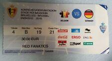Los coleccionistas used ticket 2012 UEFA Euro q Belgium-Germany Alemania Bélgica dfb
