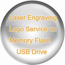 Laser Engrave Logo Service on Metal or Wood Memory Flash USB Drive Custom Design