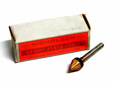 Nicholson Rotary Burr File Countersink Chamfer - American Made - 1/2 x 60 degree