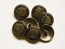 8pc 25mm German Russian Inspired Dark Steel Colour Metal military Button  2241