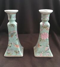 Porcelain Candlesticks Hand Painted In Macau