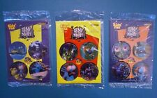Subway 1995 - Bump in the Night Pogs - Complete Set of 3 Cardboard Sheets MIP