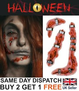 Halloween Zombie Scars Tattoos Fake Blood Scab Scar Wound Costume Make-Up Kit