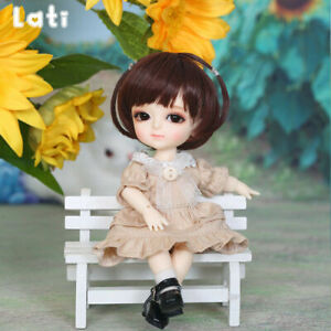 New Dress clothes Wig Hair shoes For 1/8 BJD Doll Lati Yellow coco