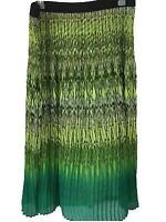 Ruby Rd Woman skirt size 18W stretch waist maxi lined green ombre pleated