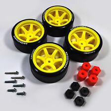 4Pcs 1:10 13mm Hex High Grade Rc Drift Rims Slick Tires Wheel Modified Parts