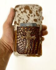 Raviani iPhone XS/Max/7/8/Plus Cellphone Case/wallet Hair on Cowhide Leather USA