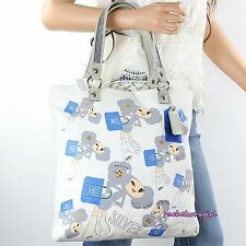 NWT Coach Poppy Chan Silver Slim Tote Shoulder Bag 14715 White Blue NEW RARE