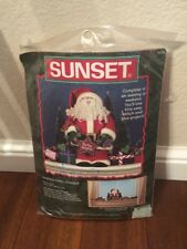 Sunset Santa's Chill Chaser 1998 Vintage Stitch & Glue Project 181299 Craft