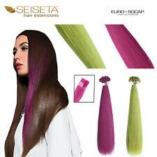 Hair Extensions cheratina SEISETA ciocche colorate Crazy capelli veri umani Remy