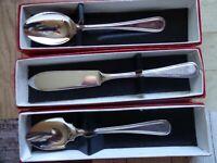 OSBORNE Sheffield Silver Plate EPNS A1 Butter Spreader, Jam Spoon & Teaspoon