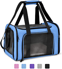 New listing Pet Carrier Bag Henkelion Blue Carrier Bag for Small Medium Cats Dogs Puppies