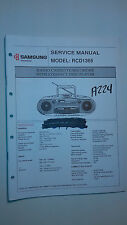 Samsung rcd-1365 service manual original repair book stereo radio cd boombox