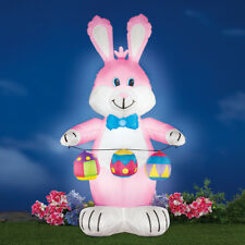 4 Ft. Tall Easter Bunny with Eggs Outdoor Airblown Inflatable