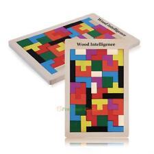 Baby Kids Boys Girls Wooden Tangram Brain Teaser Puzzle Tetris Game Toys Gifts