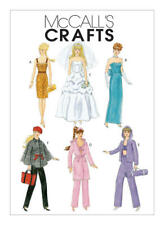 """McCalls Sewing Pattern Fashion Dolls Clothes Barbie to fit  11.1/2""""or 29cm M6258"""