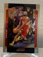 2004-05 Bowman Chrome #23 LeBron James 2nd Year Card Cavaliers Heat Lakers