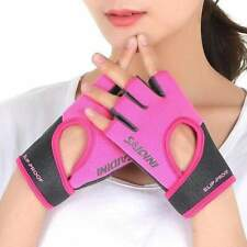 Pink - Gray Women's Half Finger Cycling Gloves