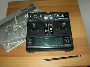 Graupner Sender MC 19 mit 35 Mhz Modul Akku (div. Sprachen wählbar)