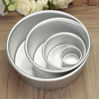 2/4/6/8'' Aluminum Alloy Round Cake Pan Tins Baking Mould Bakeware Tray BU3