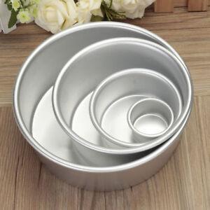 2/4/6/8 '' Aluminium-Legierung Runde Kuchen Pan Dosen Backformen Backform
