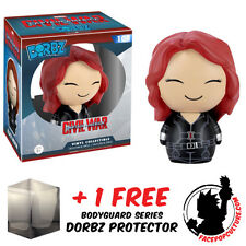 FUNKO DORBZ MARVEL CAPTAIN AMERICA 3 BLACK WIDOW WITH FREE DORBZ PROTECTOR