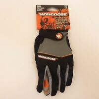 Mongoose Adult Small Full-Finger Black Padded BMX Mountain Bike Bicycle Gloves