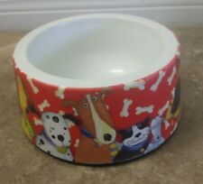 "Debi Hron Dogs and Cats Large Plastic Bowl Pet Dish- Spill Resistant 6"" Red"