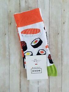 Womens Sushi Socks (Pair) Novelty Food Socks