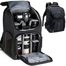 K&F Concept Large Camera Backpack Photo Bag w/ DSLR Lens Case Insert Waterproof
