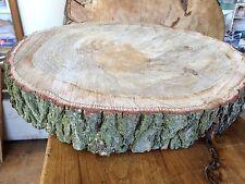 """19"""" (48cm) rovere inglese legno duro log Slice, TAVOLO, CENTROTAVOLA Supporto per Torta"""
