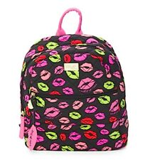 NWT $88 AUTHENTIC LUV BETSEY JOHNSON Quilted Cotton Barrow Backpack Lips Kisses