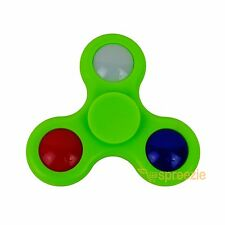 Light Up Fidget Hand Spinner Toy EDC Anxiety Stress Reliever Focus ADHD Green