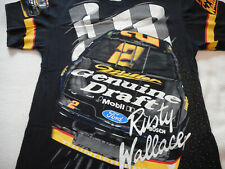 Rusty Wallace 90's Vintage 2 Miller Genuine Draft All Over Print XL T Shirt New